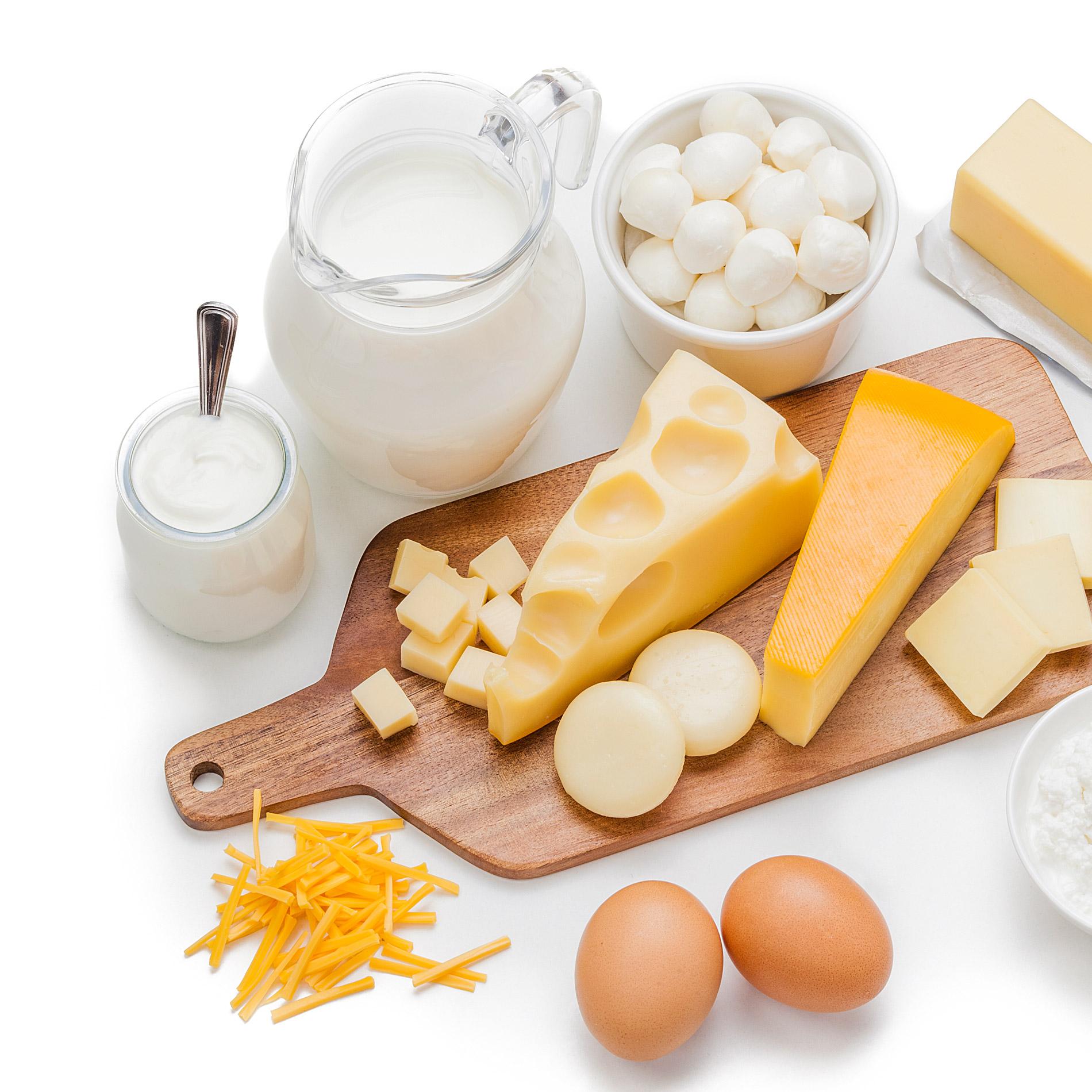 produits laitiers et féculents