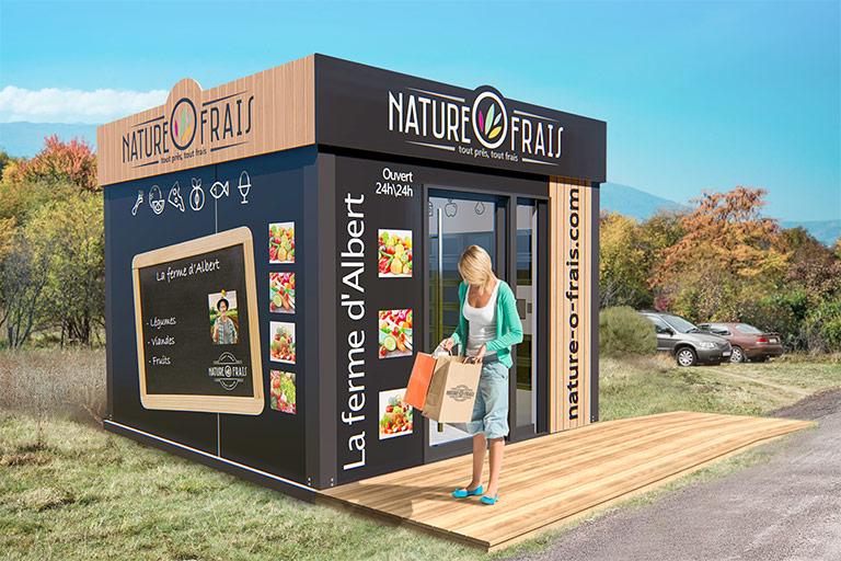 fabricant distributeur automatique alimentaire à casier 10 mètres carré